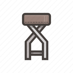 brown, chair, furniture, small icon