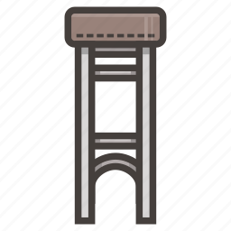 brown, chair, furniture, tall icon