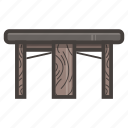 dark, kitchen, table icon
