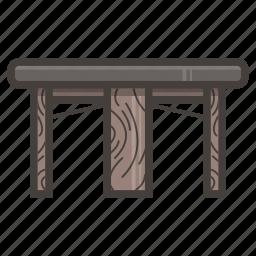 dark, kitchen, table icon