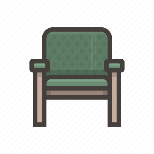 chair, furniture, green icon