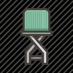 furniture, green, stool icon