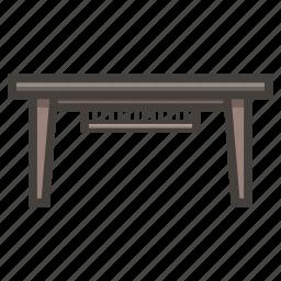 desk, furniture, minimalistic icon