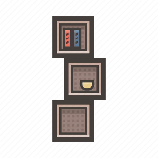 furniture, minimalistic, shelves icon