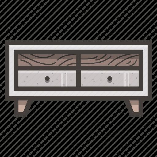 furniture, modern, tv icon