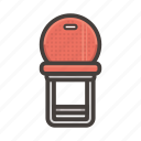 chair, furniture, red icon