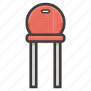 chair, furniture, kitchen, red icon