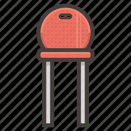 chair, furniture, kitchen, red icon
