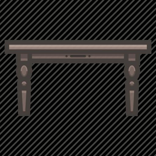 desk, furniture, wood icon