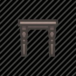 footstool, furniture, wood icon
