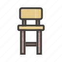 chair, furniture, yellow icon