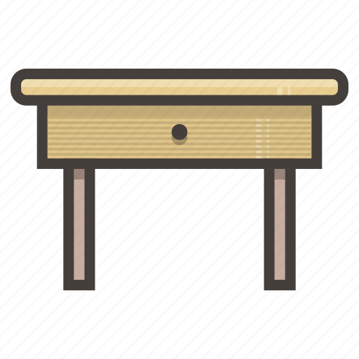 drawer, furniture, yellow icon