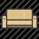 furniture, sofa, yellow icon