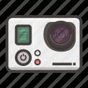 go pro, hero, pro, video icon