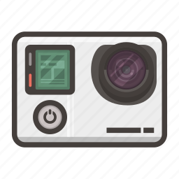 go pro, hero, pro, video icon