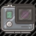 case, go, go pro, pro, video icon