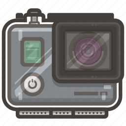 case, go, go pro, pro, video icon