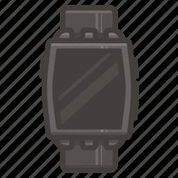 pebbble, steel, watch icon
