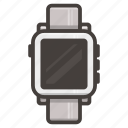 pebbble, time, watch icon