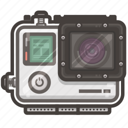 case, go pro, hero, pro, video icon