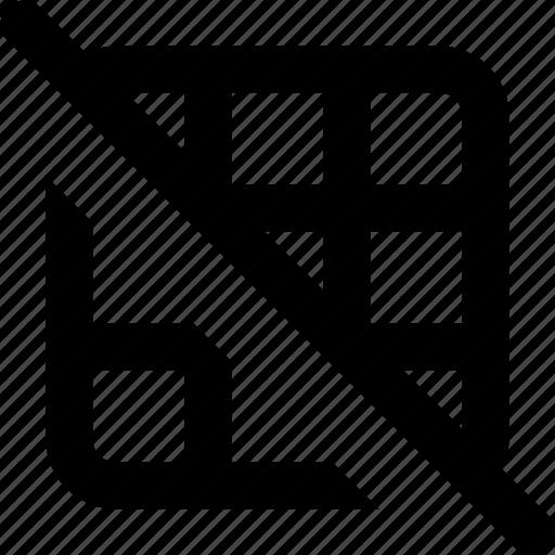 grid, off icon