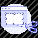 crop, window, cut, image, edition, software, scissors, app icon