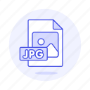 file, files, format, image, jpg icon