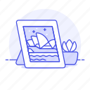 decorate, frame, image, photo, pictures, plant, pot icon