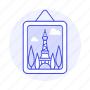 eiffel, image, photo, hang, picture, edition, tower, frame icon