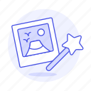 magic, image, photo, star, picture, wand, edition, 2 icon