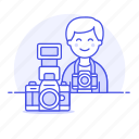 1, camera, dlsr, image, male, photographers, professional, reflex icon
