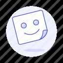 2, edition, emoji, image, smile, smiley, square, sticker icon