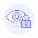 eye, tool, image, picture, photo, lock, view, edition icon