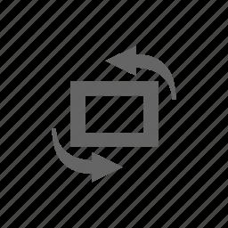 change, orient, turn icon