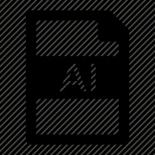 adobe, al, extension, file, format, illustrator, type icon