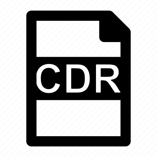 cdr, corel, draw, extension, file, format, type icon
