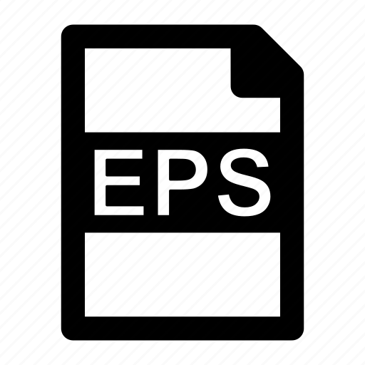 eps, extension, file, format, type icon