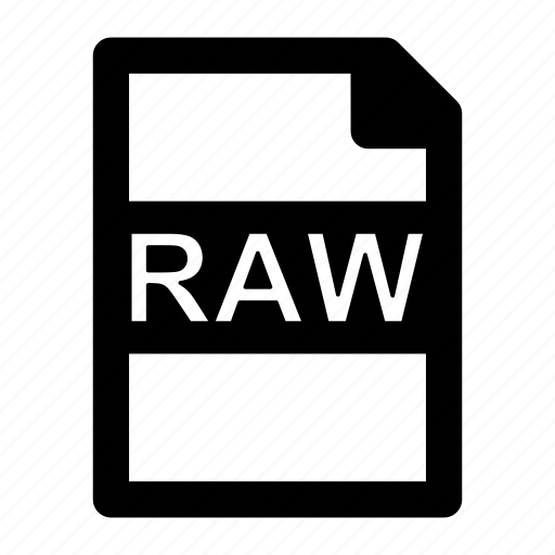 extension, file, format, raw, type icon