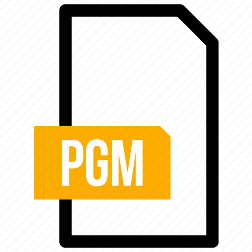 Document, extension, file, file type, format, pgm icon - Download on Iconfinder