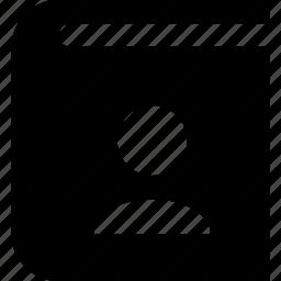 album, portrait icon