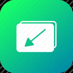 fullscreen, gallary, image, minimize, photo, picture, video icon