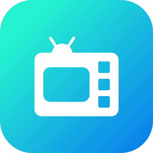 device, electronic, screen, television, tv, video icon