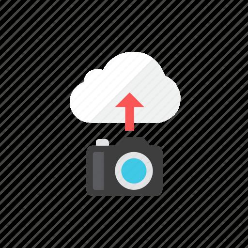 camera, upload icon