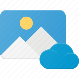 cloud, image, photo, photography, picture icon