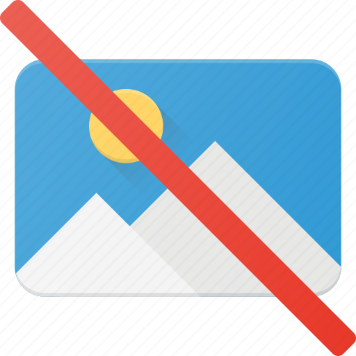 disable, image, no, photo, photography, picture icon
