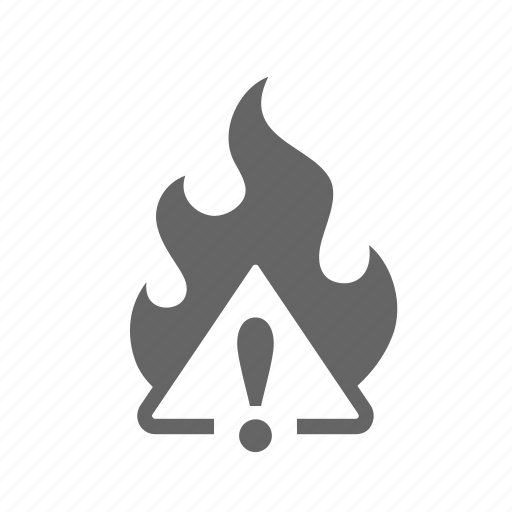 burn, combustible, danger, fire, flammable, heat, ignitable icon