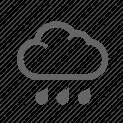 cloud, cloudburst, drop, outdoor, rain, water, weather icon