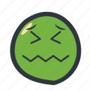 colored, emoticon, sick, sick emoji icon