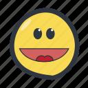 colored, emoji, emoticon, happy icon