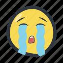 colored, crying, emoji, emoticon icon